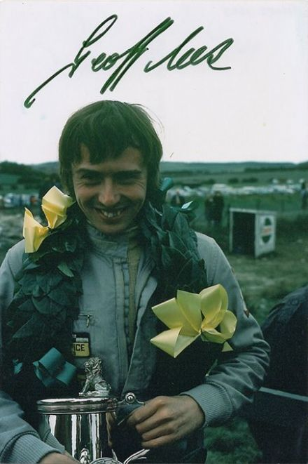 Geoff Lees, English F1 driver, signed 6x4 inch photo.